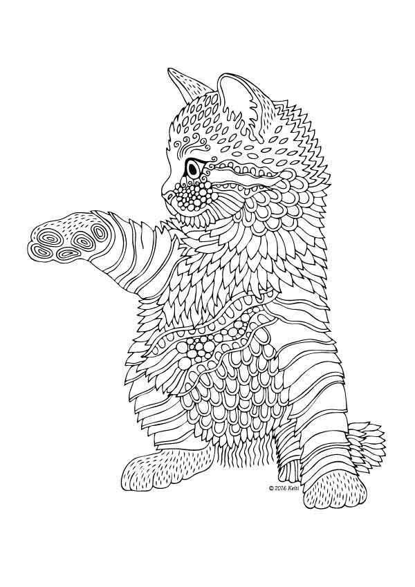 Kittens And Butterflies Coloring Book By Katerina Svozilova Http Www Amazon Com Dp 1523900032 Ref Cm Sw R Pi Dp 3civw Coloriage Coloriage Zen Coloriage Chat