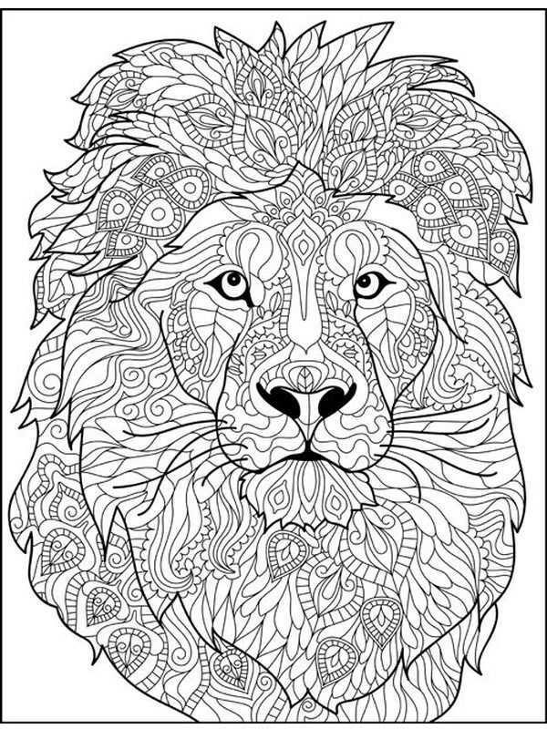 Leeuw Voor Volwassenen Mandala Kleurplaten Abstracte Kleurplaten Dieren Kleurplaten