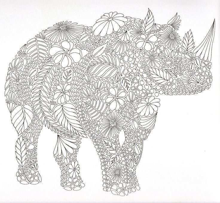 Neushoorn Animal Coloring Pages Elephant Coloring Page Coloring Books
