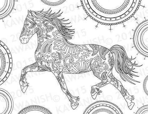 Pin Van Dara Golden Op Horse Kleurboek Volwassen Kleurboeken Dieren Kleurplaten