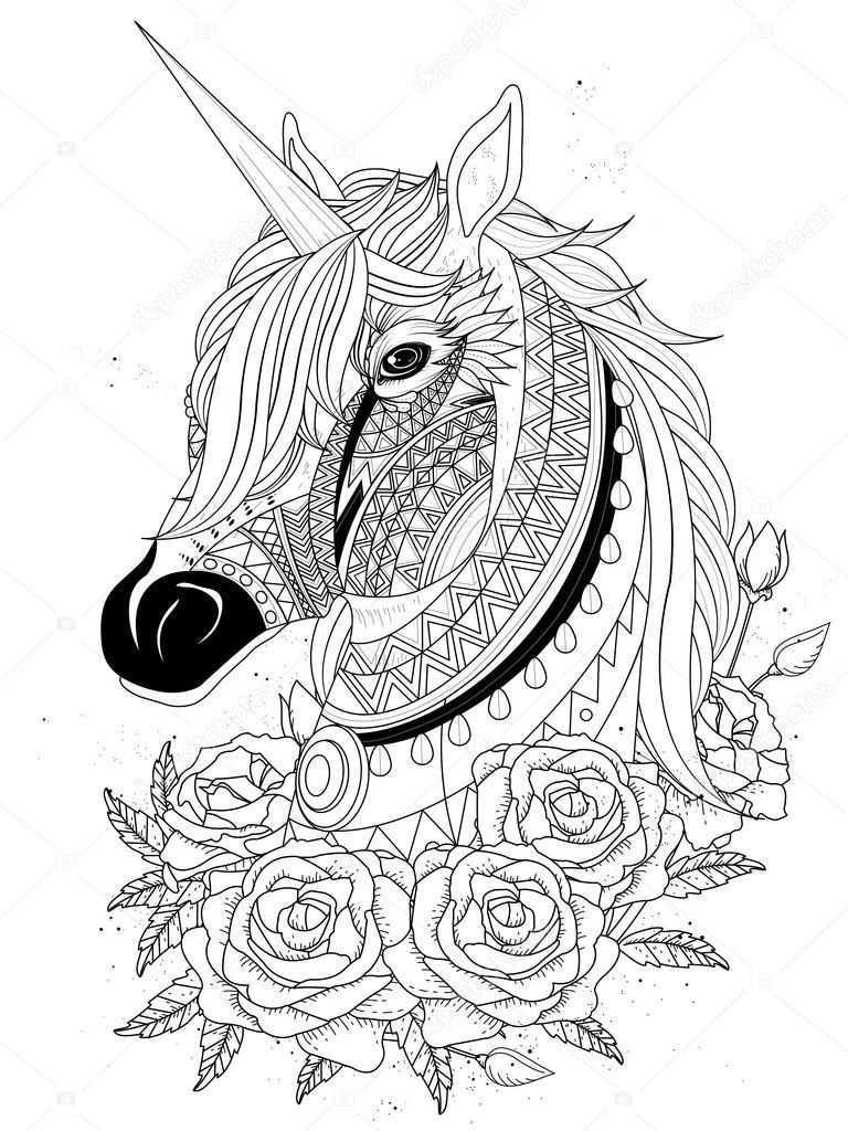 Heilige Unicorn Kleurplaat Stockvector C Kchungtw 103773362 Unicorn Paard Kleurplaat Unicorn Coloring Pages Horse Coloring Pages Animal Coloring Books