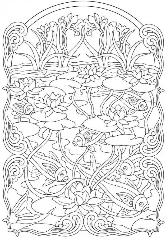Deze Vind Ik Bijzonder Vissen In Vijver I Like This Particular Fishes In Pond Kleurplaten Mandala Kleurplaten Boek Bladzijden Kleuren