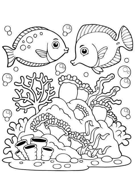 Kleurplaat 20van 20onderwater 20dieren 20vissen 20kleurplaat 2053 20leukste 20kleurplaat 20vissen 20voor 20kids Kleurboek Kleurplaten Dieren Kleurplaten