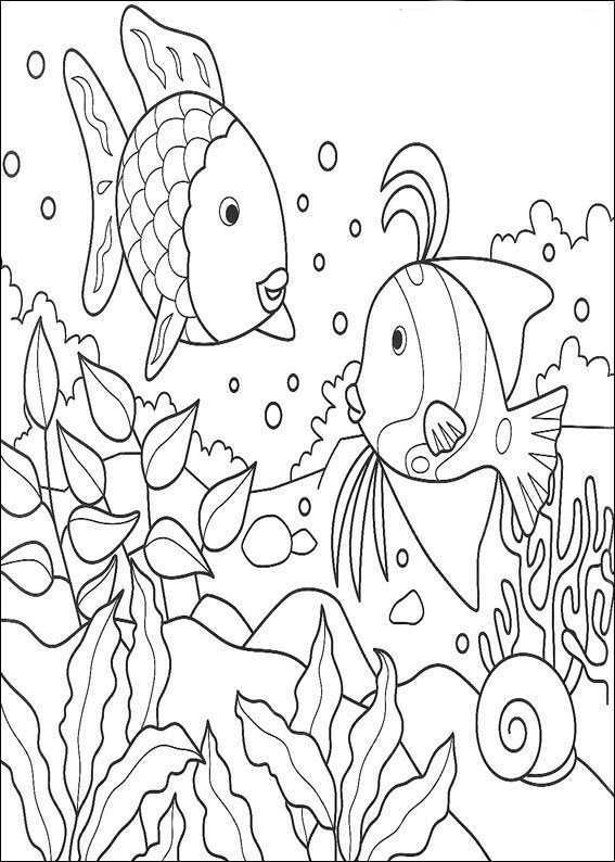 Coloring Pages Rainbow Fish Rainbow Fish Coloring Page Animal Coloring Pages Ocean Coloring Pages