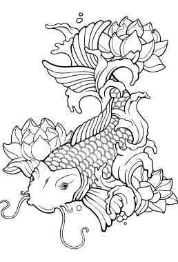 Google Image Result For Http Www Istockphoto Com File Thumbview Approve 61680 Koi Fish Drawing Fish Coloring Page Fish Drawings