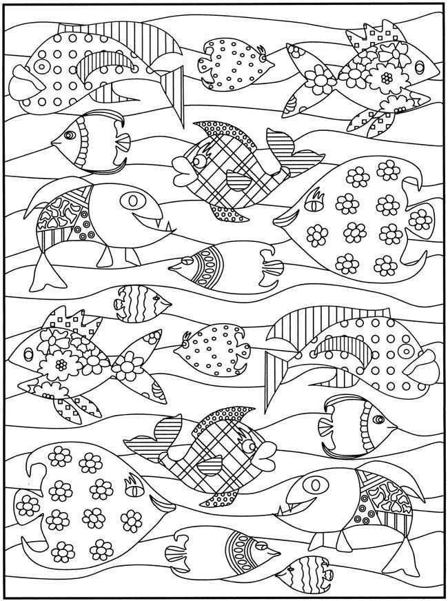 Zoek 2 Dezelfde Vissen En Geef Ze Dezelfde Kleuren Mandala Kleurplaten Kleurplaten Vissen