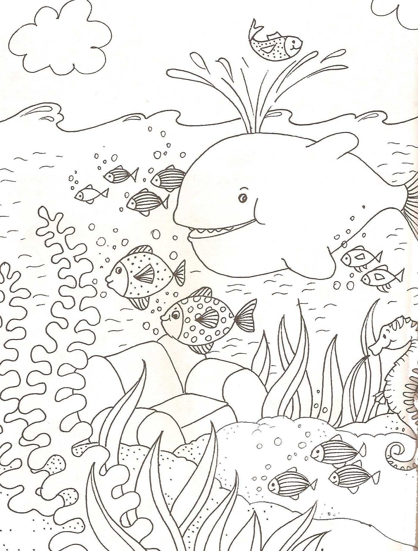 Animaux Marins Kleurplaten Dieren Kleurplaten Onderwater Knutselen