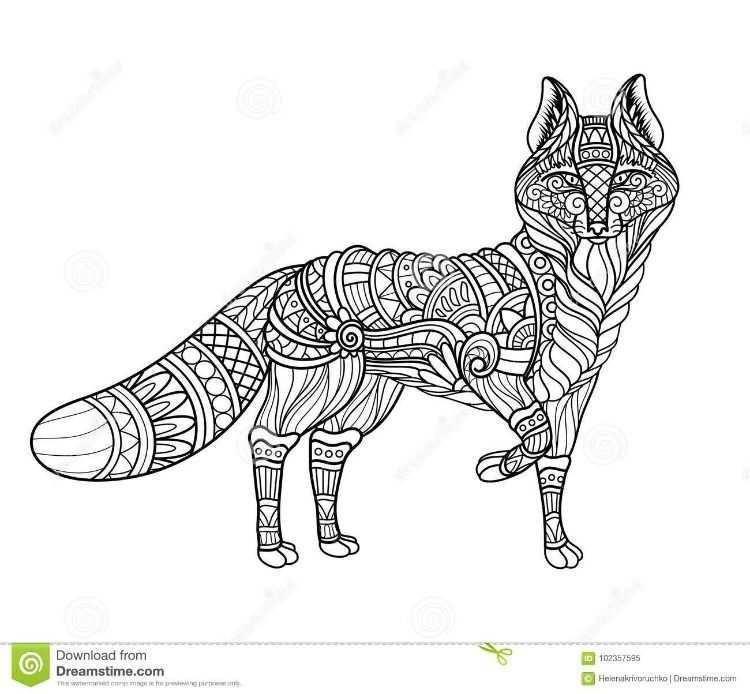 Pin Van Barbara Op Coloring Wolf Fox