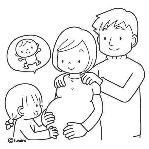 Kleurplaat Mama Zwanger Google Zoeken Knutselen Thema Baby Welkom Baby Thema