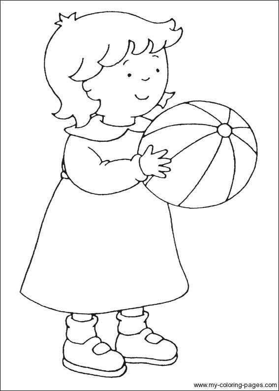 Zusje Met Bal Kleurplaten Ballonnen Thema