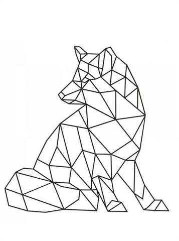Kids N Fun 19 Kleurplaten Van Geometrische Vormen Geometric Art Animal Geometric Animals Geometric