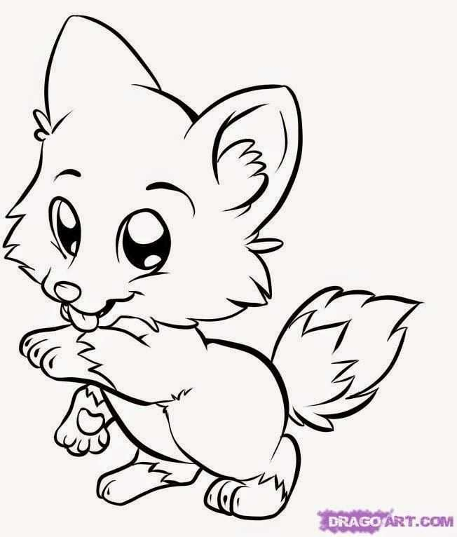 652x766 Animals Coloring Pages Puppy Coloring Pages Cartoon Coloring Pages Fox Coloring Page