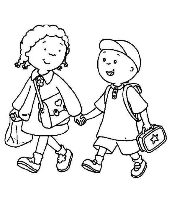Vriendjes Naar School Gratis Kleurplaten Welkom Terug Op School Kinderkleurplaten