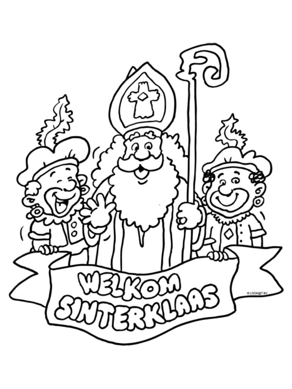 Kleurplaat Welkom Sinterklaas Sinterklaas Knutselen Sinterklaas Diy Sinterklaas