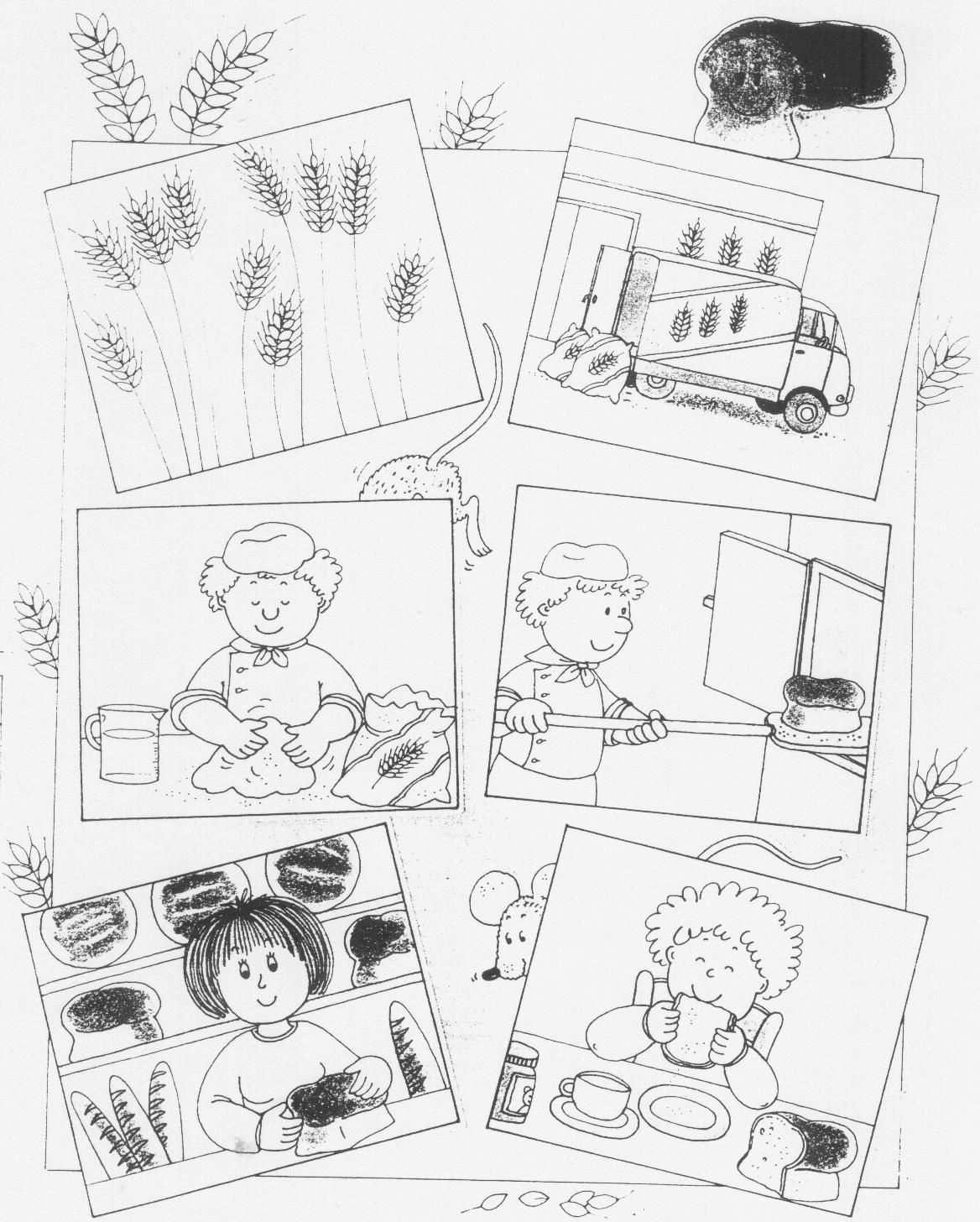 Van Gaan Tot Boterham Werkblad Jpg 1168 1456 Thema Werkbladen Graan
