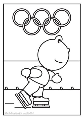 Frokkie Schaatst Mee Met De Olympische Spelen Hij Is Goed Getraind Zou Hij Goud Winnen Voor Nederland Olympische Spelen Olympische Winterspelen Spel