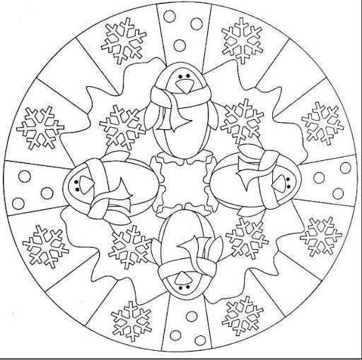 Mandala Winter Mandala Coloring Pages Mandala Coloring Coloring Pages