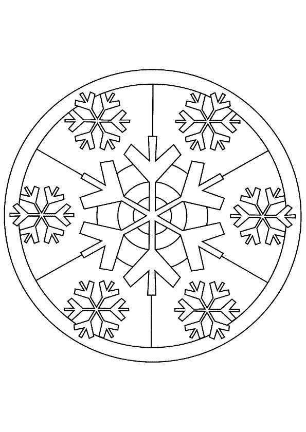 Kleurplaat Mandala Kleurplaten 5248 Mandala Kleurplaten Kerstkleurplaten Kerstmis Kleuren