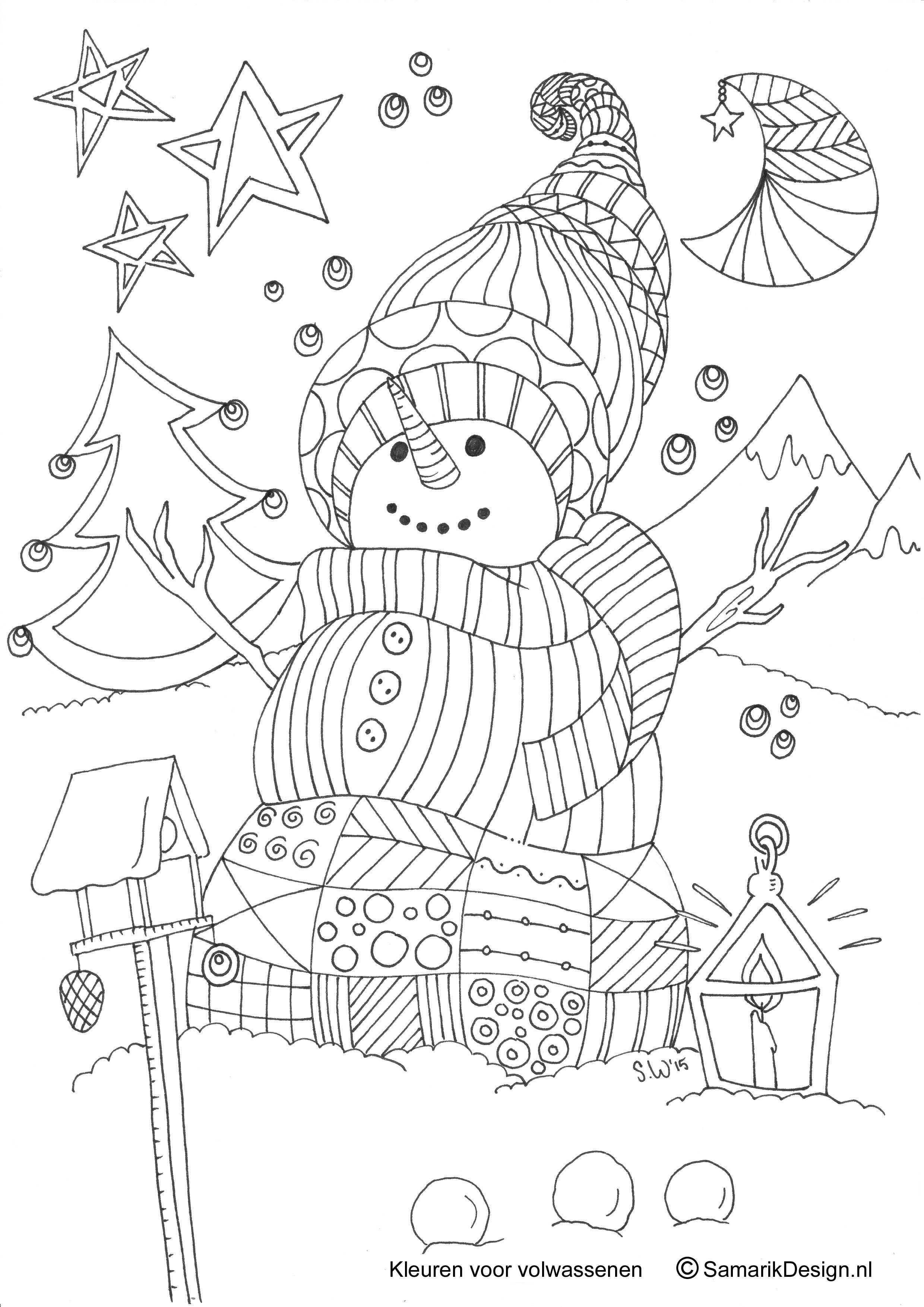 Kleurplaat Voor Volwassenen Winter Kleurplaten Kleurplaten Voor Volwassenen Knutselen Juffendag