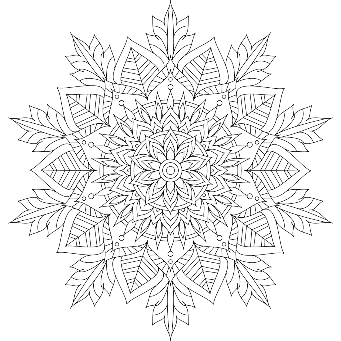 This Is Winter Soul One Of Over 100 Printable Mandalas For You To Color Https Mondaymandala Com M Winter Soul Mandala Kleurplaten Kleurplaten Kleurboek
