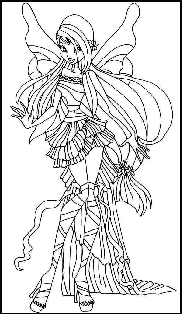 Winx Club Harmonix Musa Coloring Pages For Kids Gtb Printable Winx Club Coloring Pages For Kids Cartoon Coloring Pages Fairy Coloring Coloring Pages