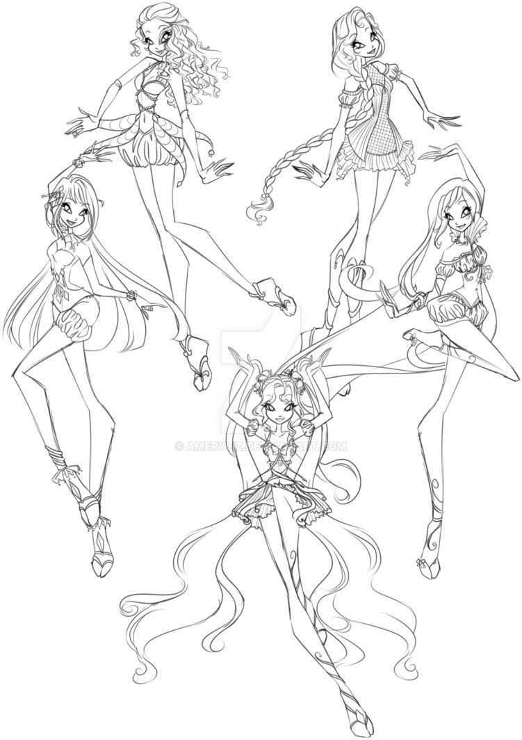 Joker Fest For Preciouswishes By Gardenofdaisy Cartoon Coloring Pages Winx Club Art