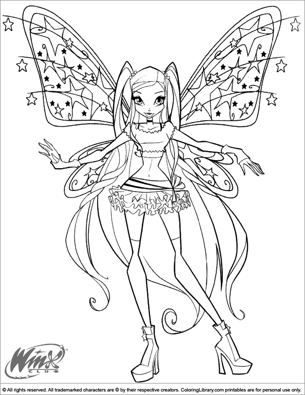 Winx Club Coloring Picture Fairy Coloring Pages Fairy Coloring Coloring Pictures