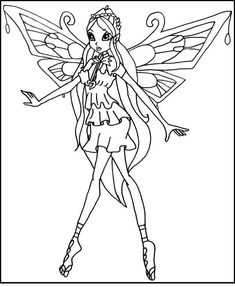 Winx Club Enchantix Coloring Pages Winx Club Cartoon Coloring Pages Coloring Pages
