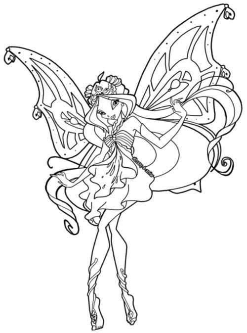 A Smiling Beautiful Winx Club Coloring Pages Kleurplaten Feeen Sprookjes
