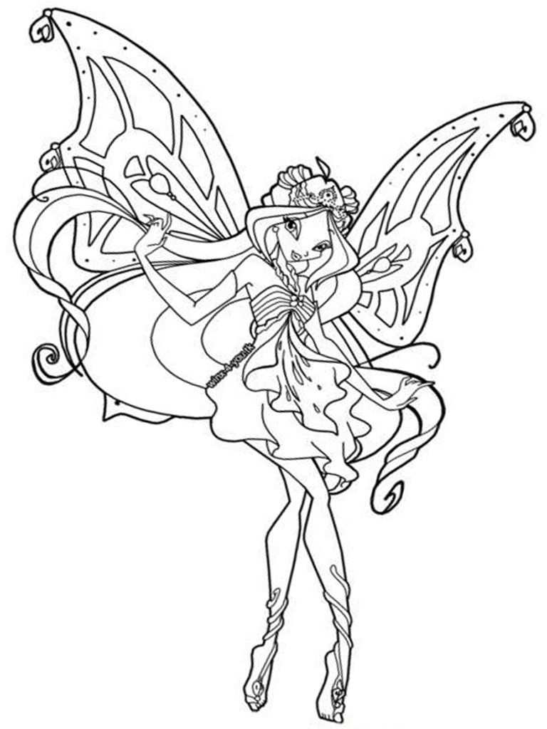 Winx Printable Coloring Pages Fairy Coloring Pages Coloring Pages For Girls Colouring Pages
