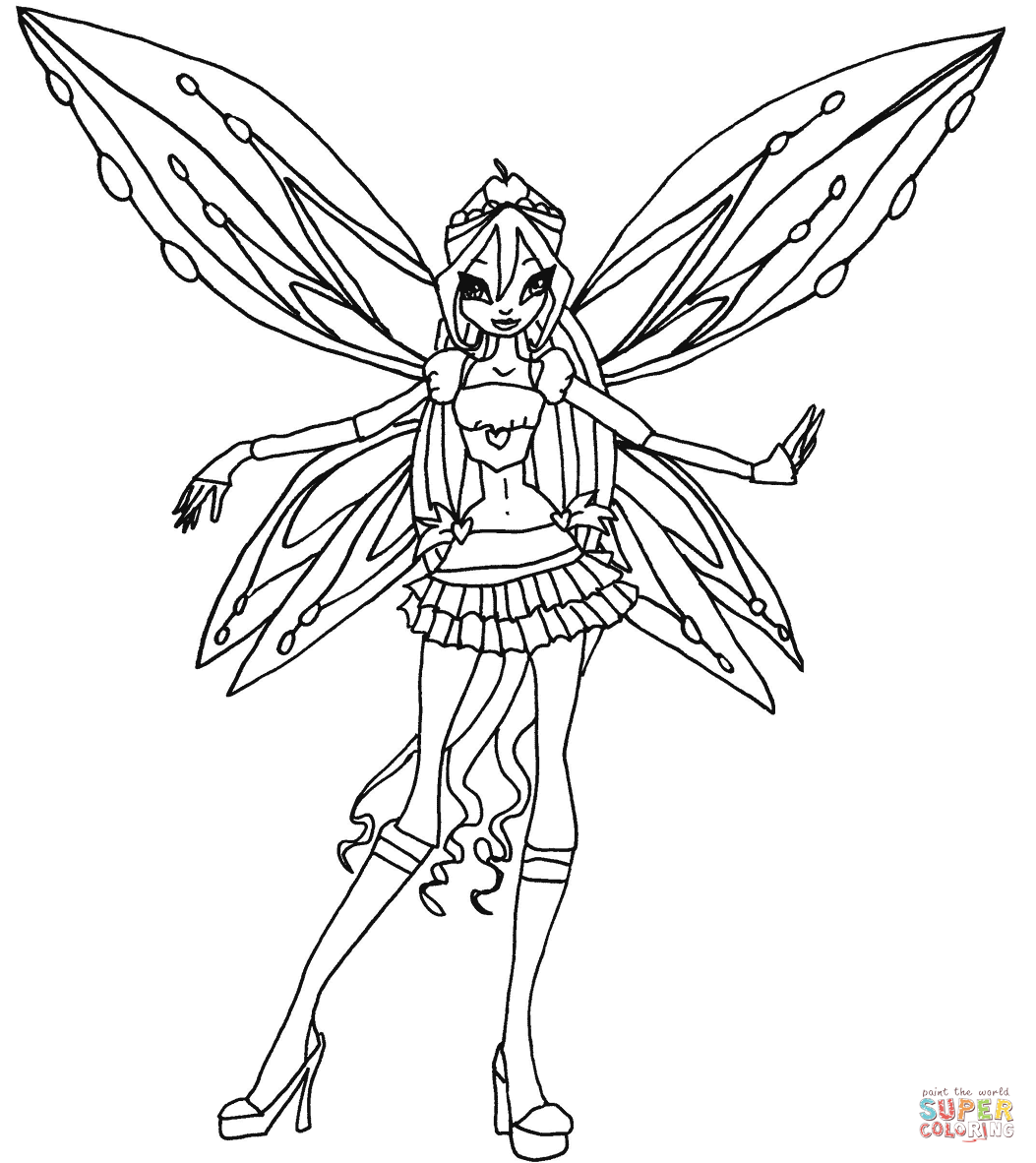 Winx Coloring Pages With Winx Club Coloring Books Coloring Pages Disney Princess Drawings