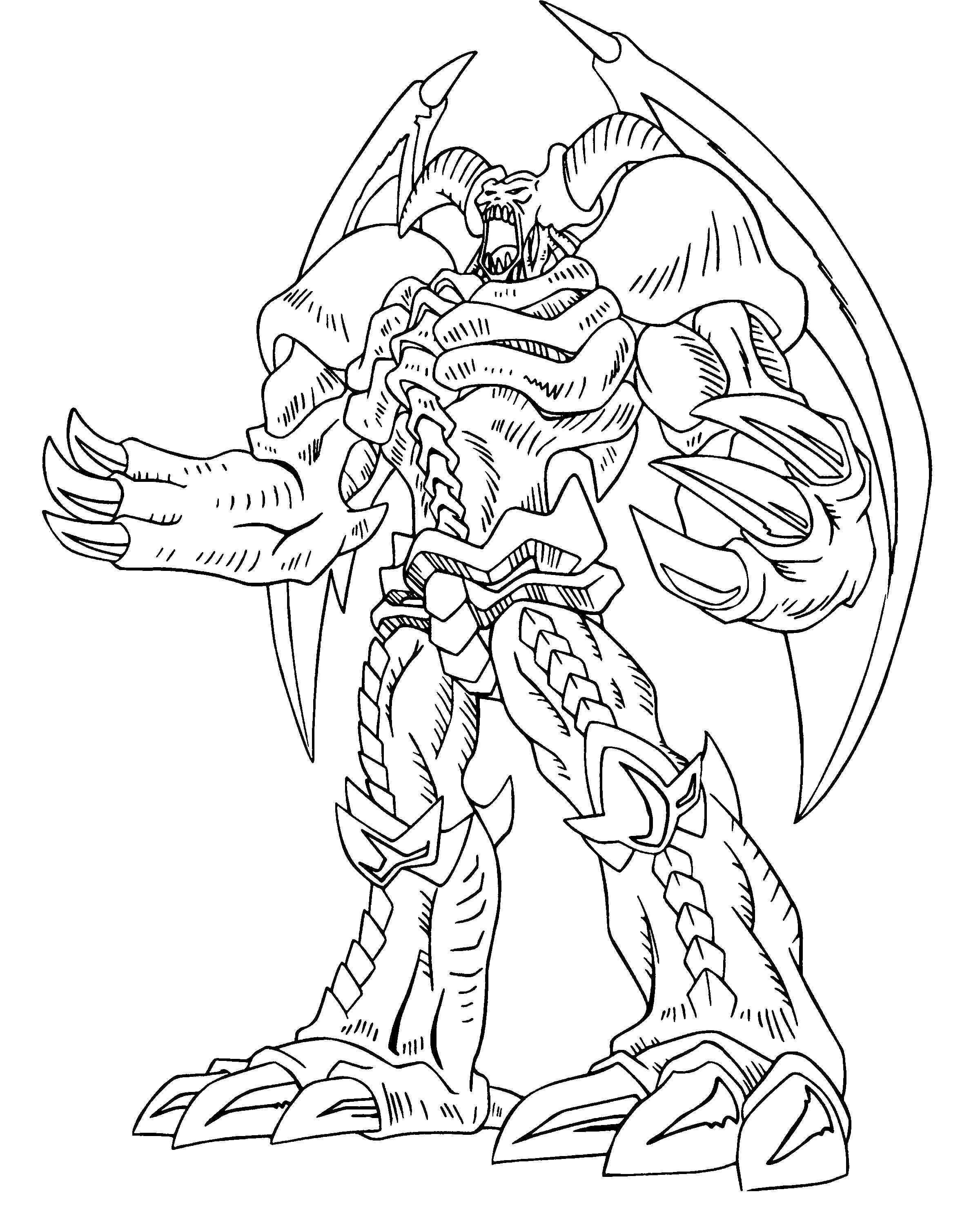 Yu Gi Oh Great Power Coloring Pages Monster Coloring Pages Dragon Coloring Page Cartoon Coloring Pages