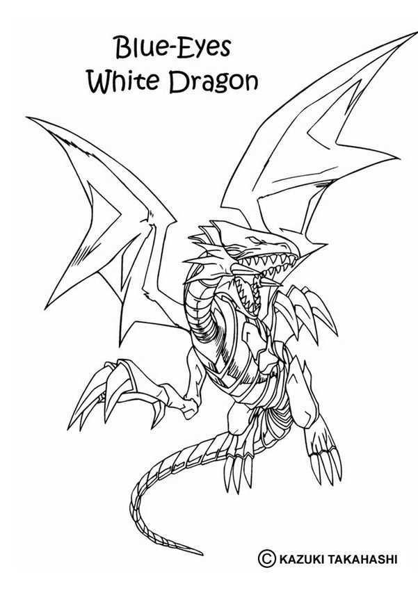 Yu Gi Oh Coloring Pages White Dragon 1 Dragon Coloring Page Monster Coloring Pages Coloring Pages