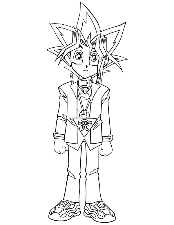Cute Little Yugi Muto In Yu Gi Oh Coloring Page Netart Cartoon Coloring Pages Coloring Pages Coloring Pages For Kids