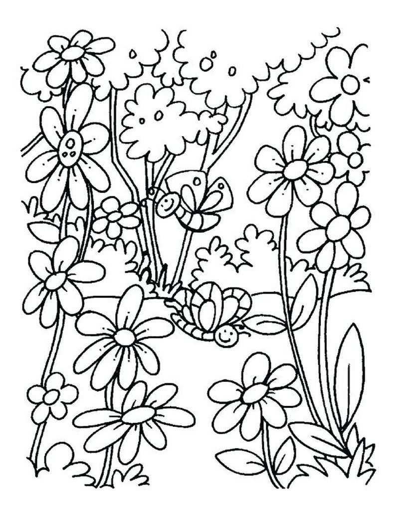 Spring Coloring Pages For Kids Kleurplaten Kleuren