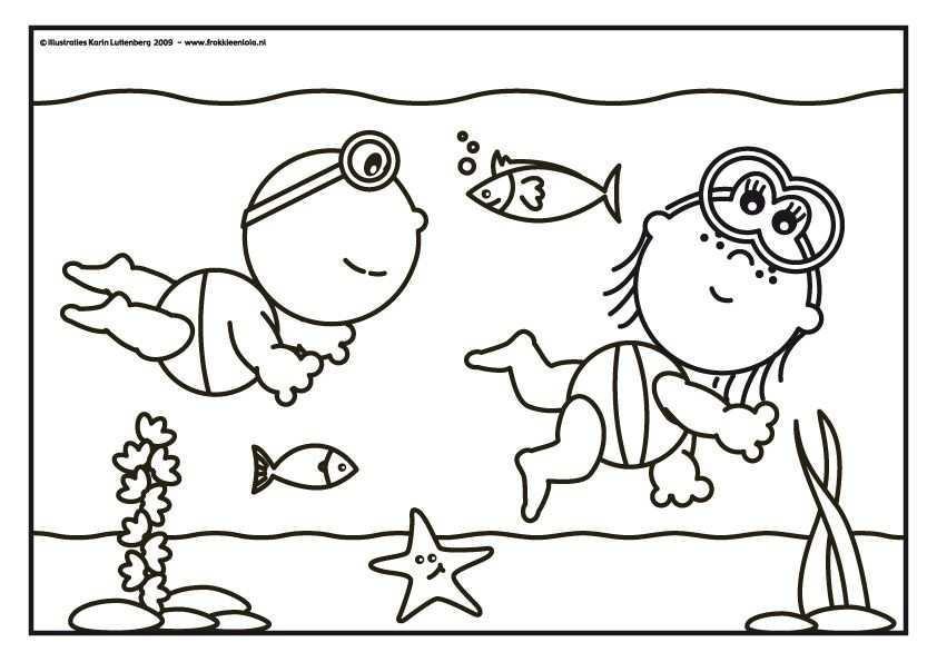 Frokkie Lola Kleurplaten Onderwater Thema Kleurplaten Thema