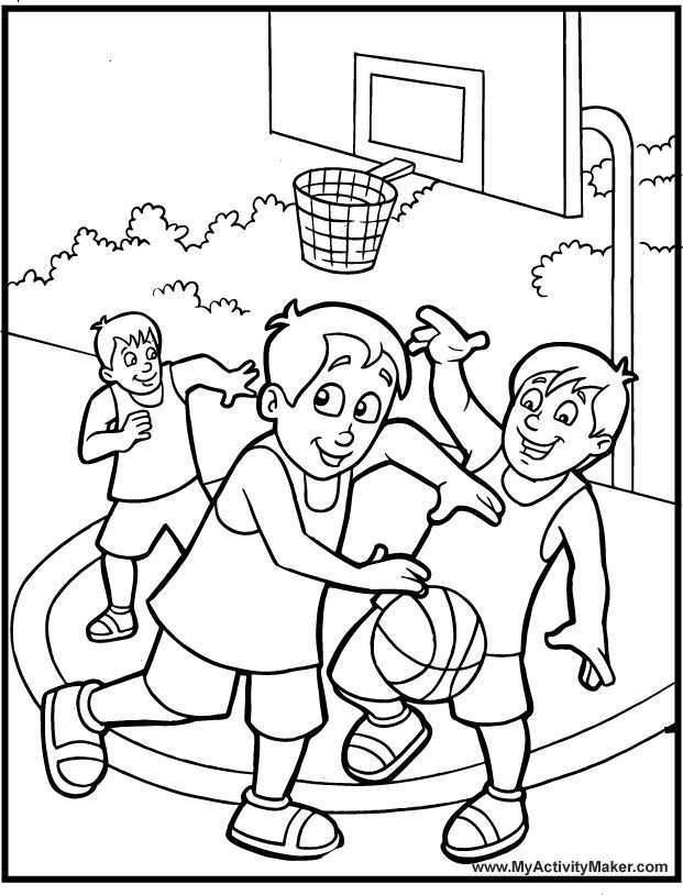 Sport Basketball Coloring Pages Sports Coloring Pages Coloring Pages For Boys Free Printable Coloring Sheets