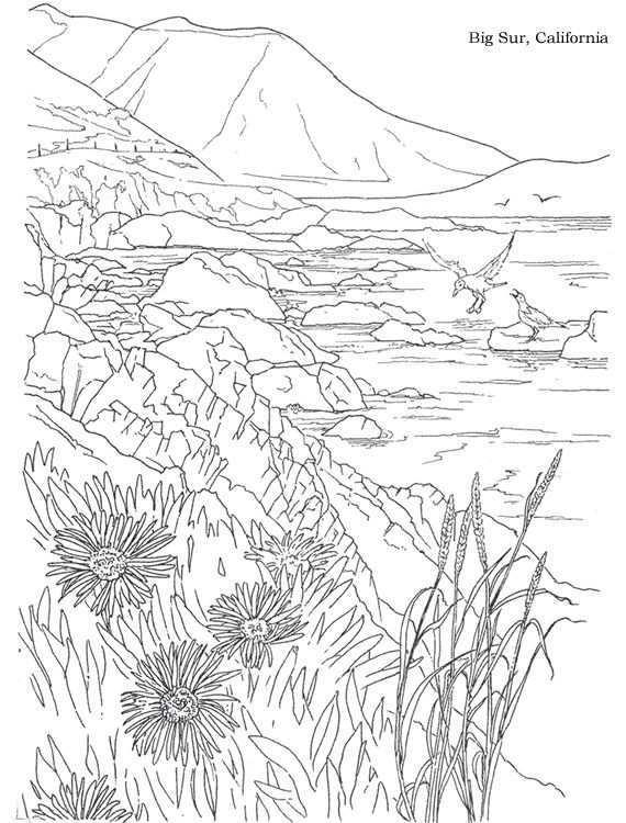 A Dover Publication Sample Landschappen Landschap Kleurplaten Voor Volwassenen