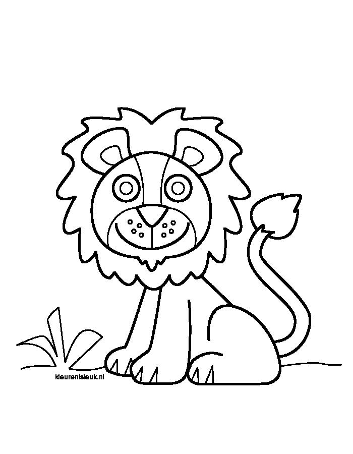 Leeuw Lion Lion Leeuw Kleurplaten