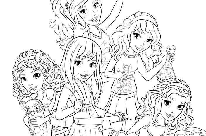 Coloring Pictures Lego Friends