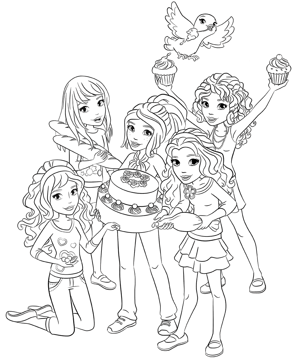 Lego Friends Coloring Pages Best Coloring Pages For Kids Lego Coloring Lego Friends Birthday Lego Coloring Pages