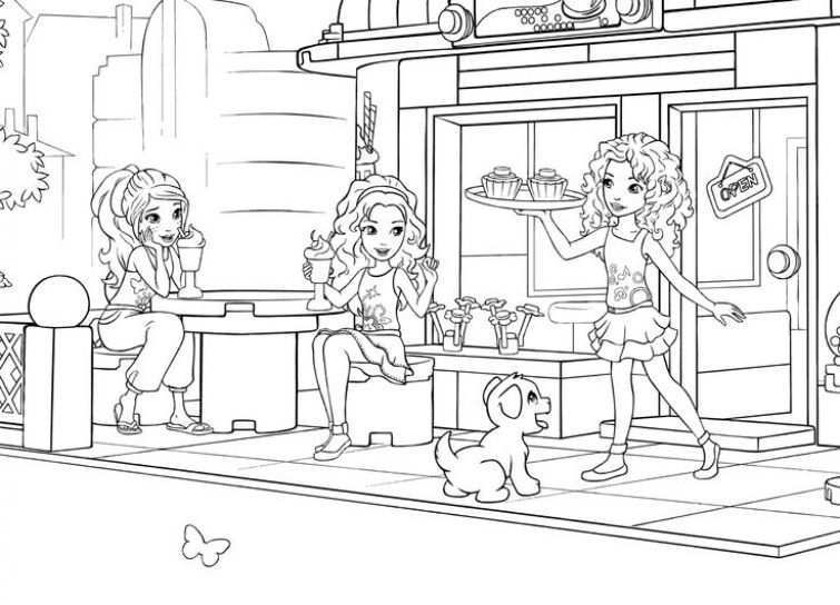 The Power Of Friendship Lego Friends Coloring Pages Kleurplaten Lego Friends Lego