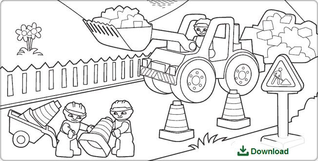 Lego Duplo Bouwplaats Bloknood Lego Duplo Lego Kleurplaten