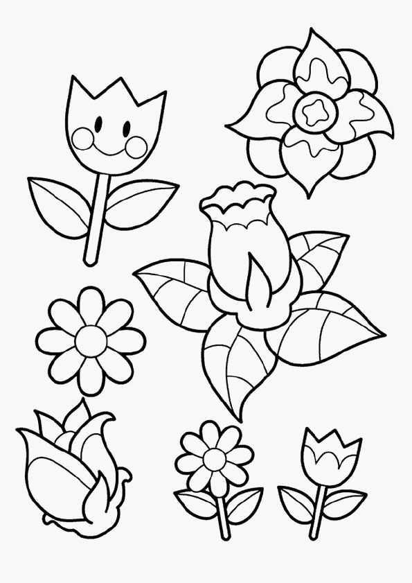 Kleurplaat Bloemen Verjaardag Gratis Kleurplaten Bloemen Tekenen Kleurboek