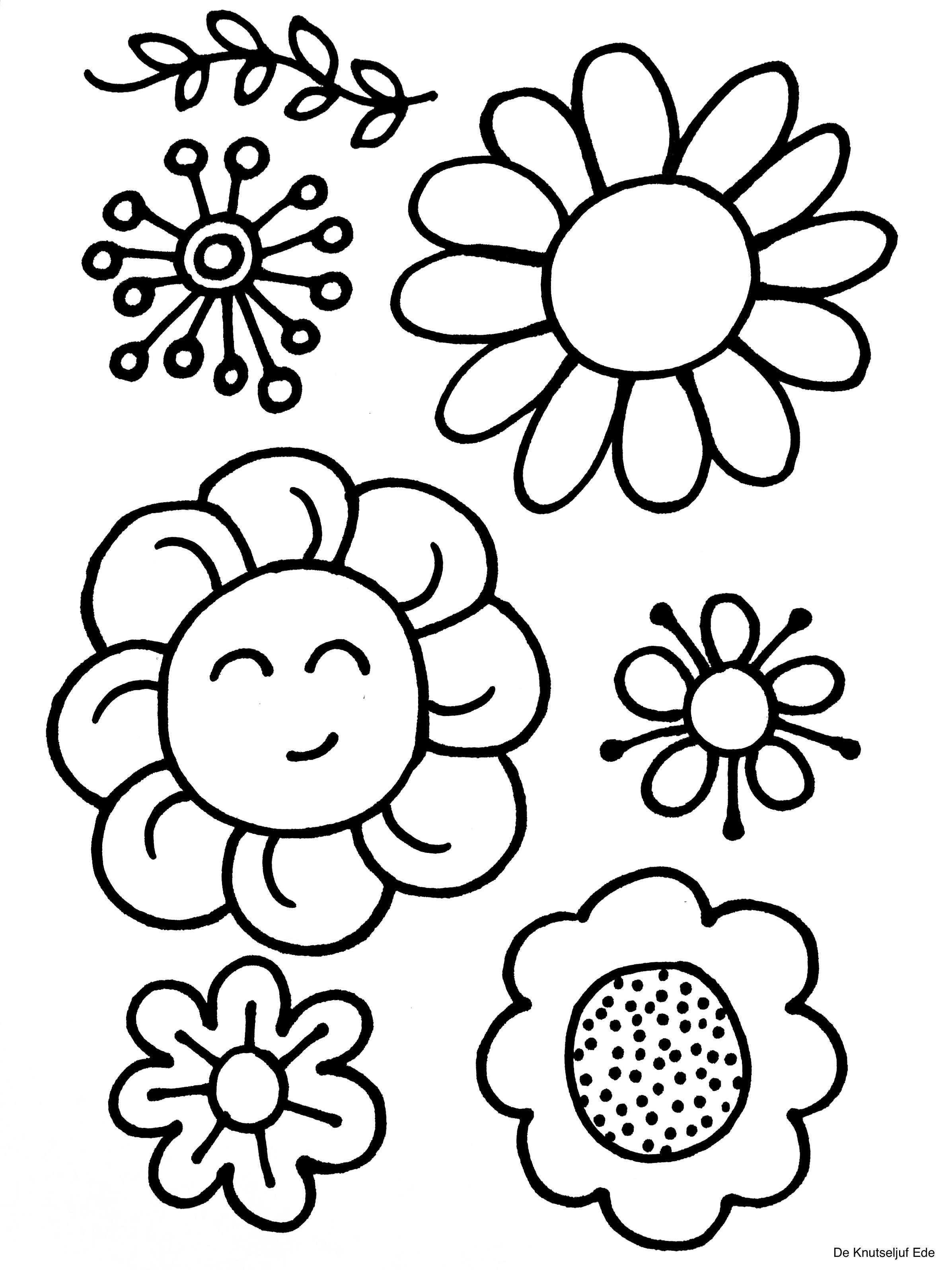 Kleurplaten Bloemen Bloemen Knutselen Kleurplaat Kleurplaten De Knutseljuf Ede Bloem Kleurplaten Bloemen Kleurplaten Kleurplaten