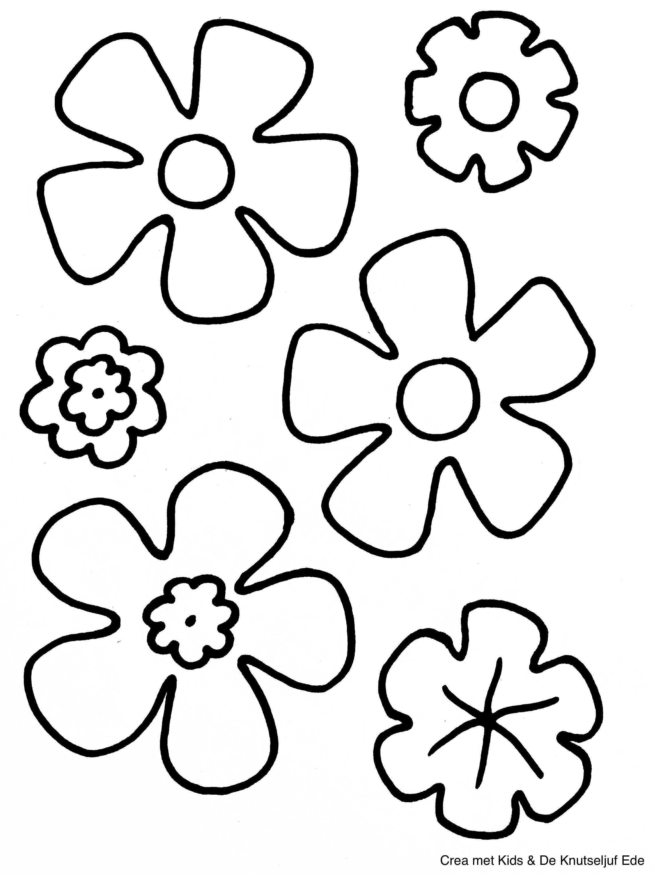 Kleurplaten Bloemen Bloemen Knutselen Kleurplaat Kleurplaten De Knutseljuf Ede Bloem Kleurplaten Bloemensjabloon Kleurplaten