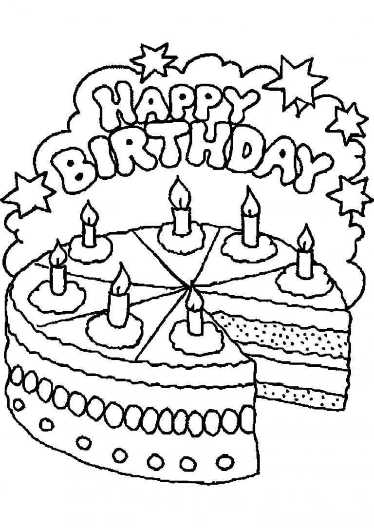 Kleurplaten Verjaardag Tante Kleurplaten Verjaardag Gefeliciteerd