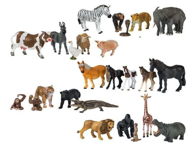 Playtive Junior Spielfiguren Tierset Lidl De Animals Moose Art Safari