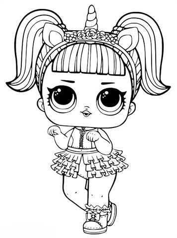 Kids N Fun Com 30 Coloring Pages Of L O L Surprise Dolls Unicorn Coloring Pages Mermaid Coloring Pages Kitty Coloring