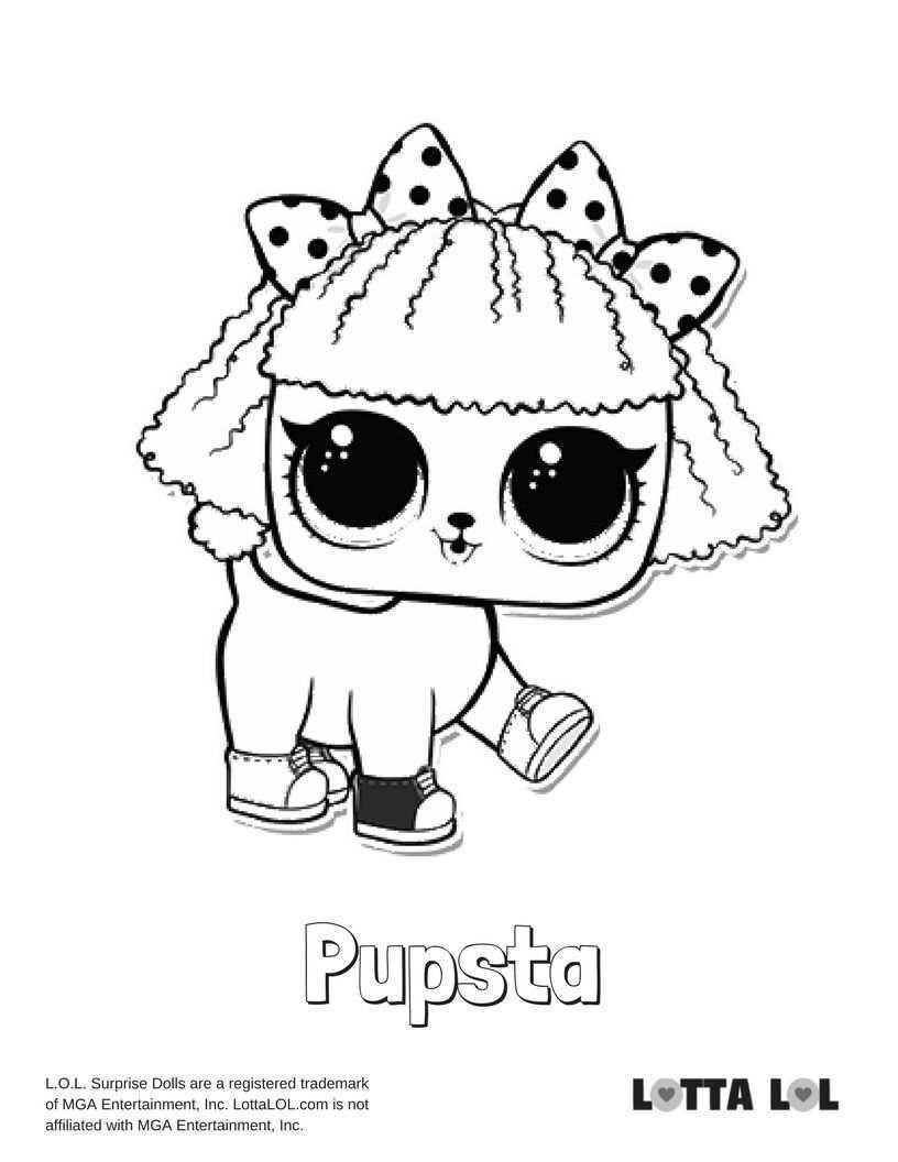 Pupsta Coloring Page Lotta Lol Lol Dolls Coloring Pages Kids Printable Coloring Pages